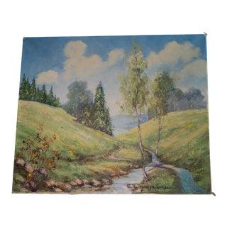 Vintage Original Landscape Painting