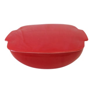 Pyrex Red Lidded Bowl