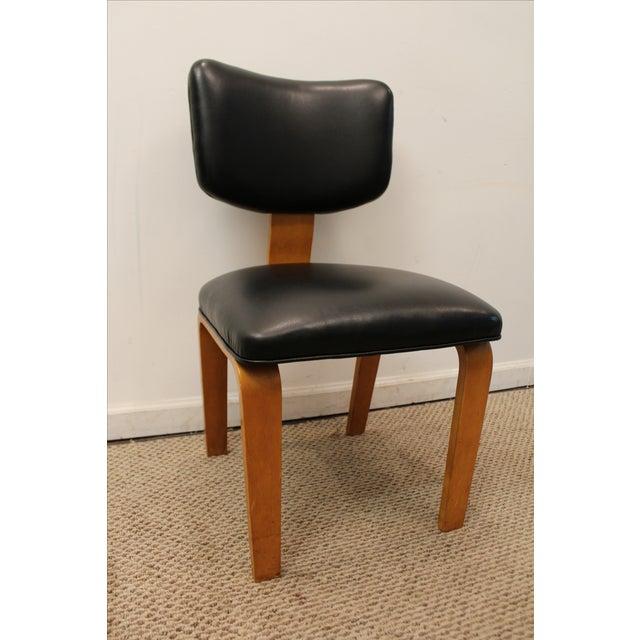 Mid Century Danish Modern Joe Atkinson For Thonet Nailhead Bentwood Side Chair Image 2 Of