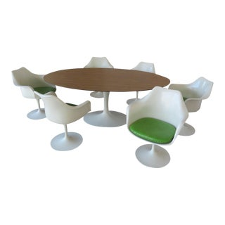 Vintage Saarinnen Table and Tulip Chairs - Dining Set