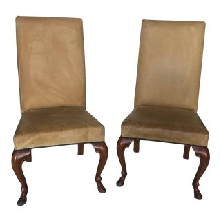 Pear of Ralph Lauren Chairs in Leather, Labelled