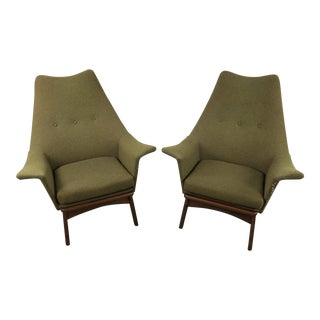 Adrian Pearsall Wingback Chairs - A Pair