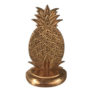 Vintage Brass Pineapple Bookend