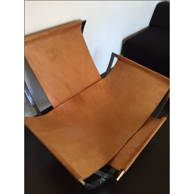 Charles Stendig Leather Lounge Chairs - A Pair - Image 7 of 8
