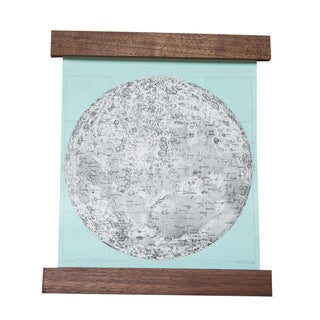 Antique Moon Pull Down Chart Revival in Mint