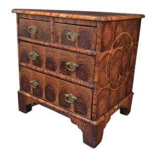 English Georgian Oyster Veneer Small Chest