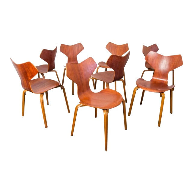 Set of Eight Arne Jacobsen Grand Prix Chairs - Image 1 of 10