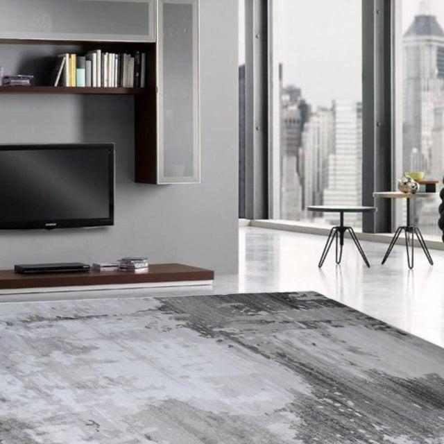 """Turkish Gray Abstract Rug - 6'8"""" x 9'8"""" - Image 4 of 4"""