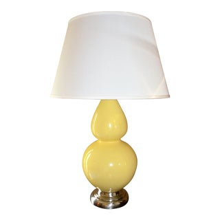 Robert Abbey Double Gourd Yellow Table Lamp