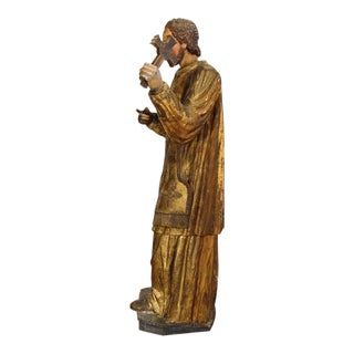 Spanish Carved Statue of Saint Francis-Xavier