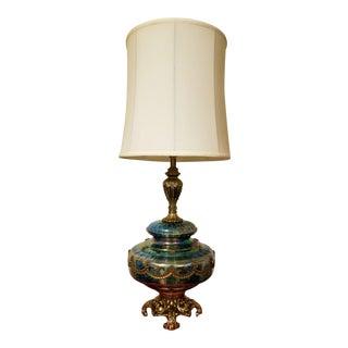 Amethyst Carnival Glass Table Lamp