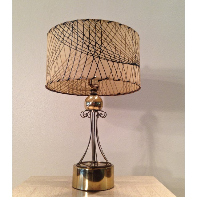 Atomic Era Brass Table Lamp - Image 4 of 6