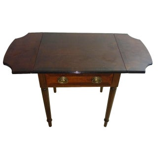 Duncan Phyfe-Style Drop Leaf Side Table