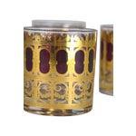 Image of Vintage Metallic Gold Cocktail Glasses - S/4