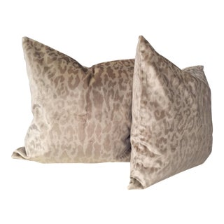 Velvet Wild Animals Pillows - a Pair