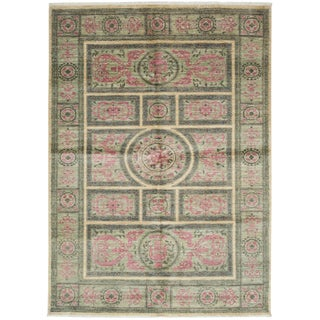 """Suzani, Hand Knotted Area Rug - 5' 0"""" x 7' 3"""""""