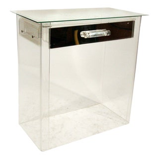 1960s Lucite Vanity / Entry Console in Manner of Charles Hollis Jones