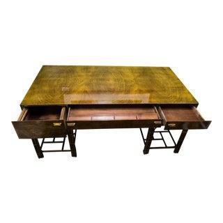 Walnut Henredon Burled Wood Desk