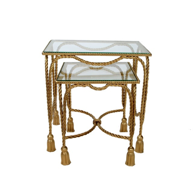 Decorative Gilt Metal Nesting Tables - a Pair - Image 2 of 9