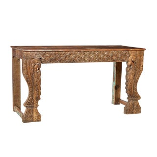 Antique Carved Wood Console