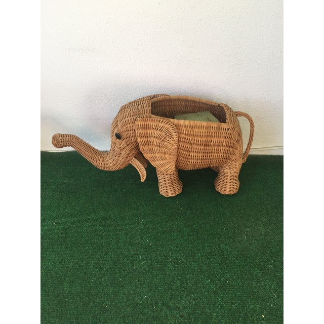 Wicker Elephant Planter - Image 8 of 9
