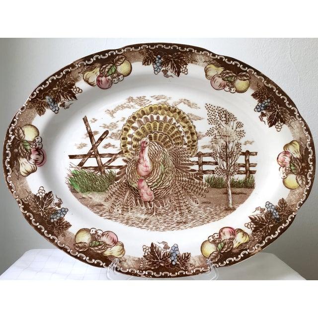 Image of Vintage Ironstone Turkey Serving Platter