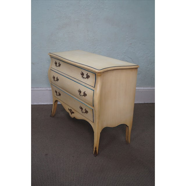 Image of Vintage Louis XV Vintage Painted Bombe Chest