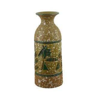 Hieroglyphic Horses & Trees Italian Pottery Vase