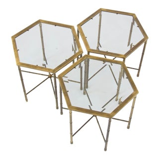 Set of Three Mastercraft Hexagonal Side Tables