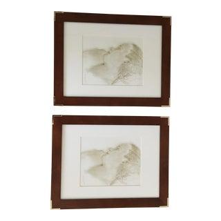 Restoration Hardware Framed Prints - A Pair
