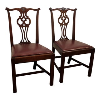Pair of Hickory Chair Co. Chippendale Mahogany Dining Chairs