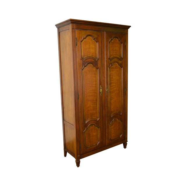 Baker Milling Road French Louis XV Style Fruit Wood Tall Armoire Cabinet - Image 11 of 11