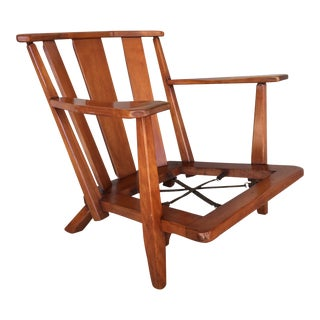 1940's Cushman Colonial Creations Dorset Birchwood Barrel Back Arm Chair