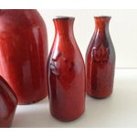Image of Terracotta Red Glazed Containers - Set of 4