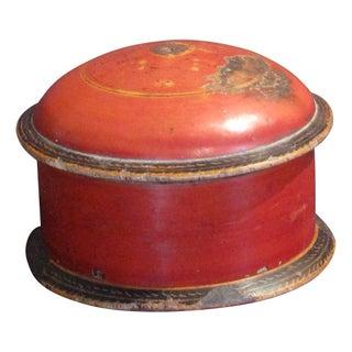 Antique Burnt Orange Spice Box