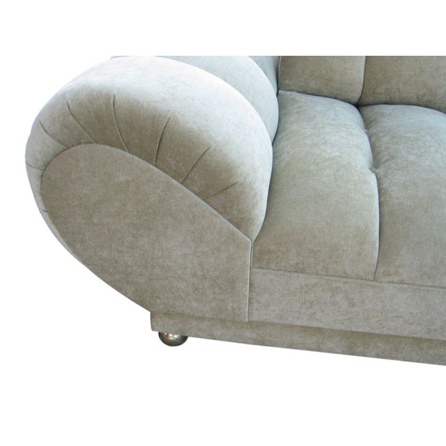 Low Tufted Roll Arm Sofa Chairish