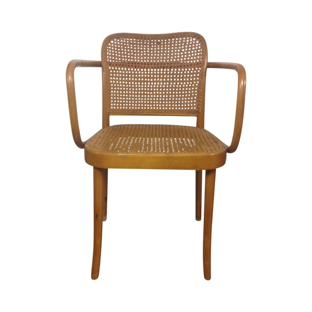 Thonet Mid-Century Bentwood and Cane Armchair - Image 1 of 8