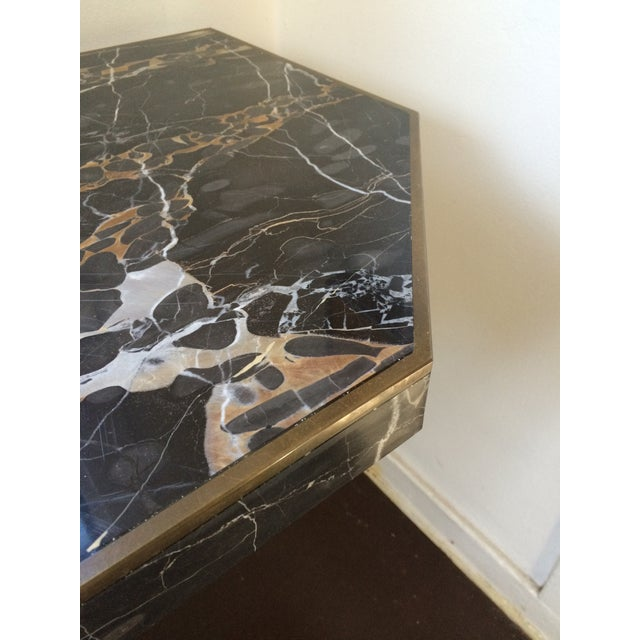 Image of Willy Rizzo Italian Portoro Marble Console Table