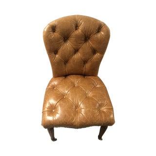Edward Farrell Leather Side Chair