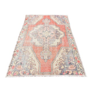 Vintage Oushak Distressed Rug - 4′5″ × 6′9″