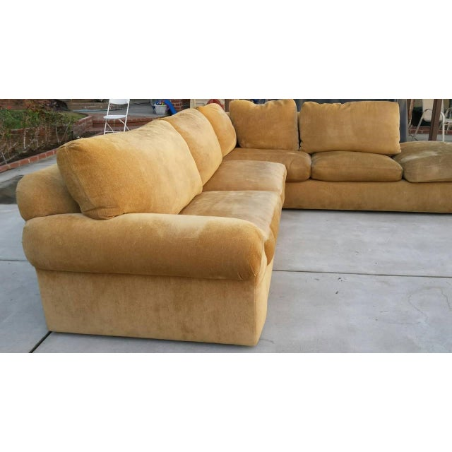 A. Rudin Mid-Century Yellow Sectional Sofa - Image 3 of 7