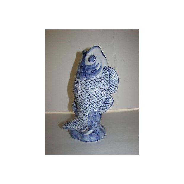 Mid century koi fish vase chairish for Koi fish vase