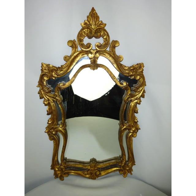 Italian Gilt Carved Louis XV Mirror - Image 2 of 9