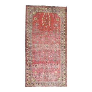 Antique Distressed Khotan Gallery Rug, 6'4'' x 12'8''