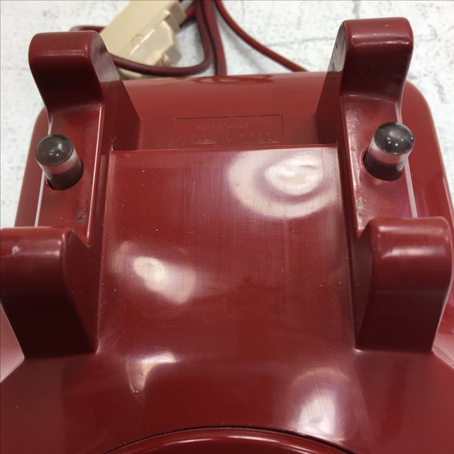 Western Electric Red Rotary Dial Telephone - Image 7 of 11
