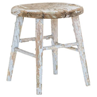 Distressed Painted Stool
