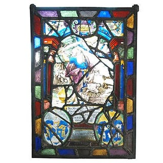 Circa 1644 Leaded Stained Glass Panel
