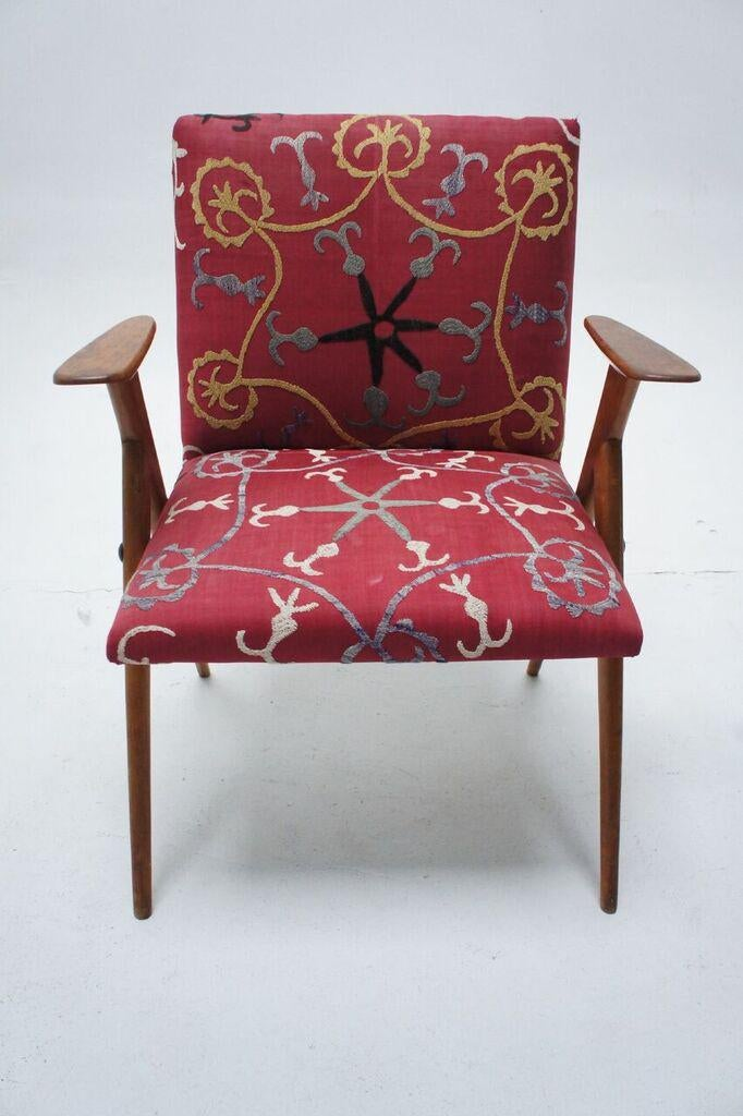 Vintage Suzani Upholstered French Occasional Chair   Image 3 Of 9