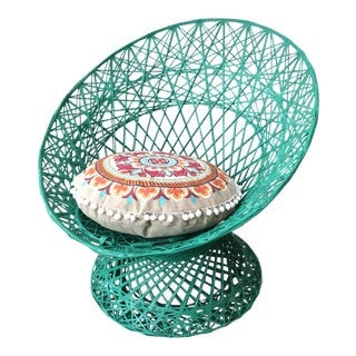 Russel Woodard Spun Fiberglass Mini Peacock Chair