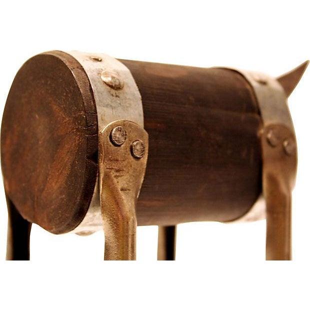 Modern Handmade Sculpture of a Bull - Image 4 of 4
